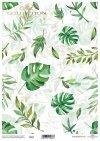 Decoupage-Papier mit Blättern, grünen Blättern*papel decoupage con hojas, hojas verdes*бумага для декупажа с листьями, зеленые листья