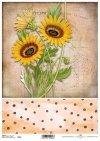 Decoupage Papier mit Sonnenblumen*decoupage papír s slunečnice*papel decoupage con girasoles