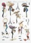 Eiffel Tower, fashion, Paris, old France, vintage, hat, joke, flowers,