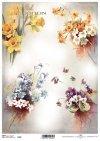 decoupage de papel con flores*decoupage papír s květinami*Decoupage Papier mit Blumen