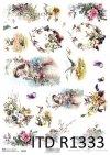 papier ryżowy decoupage ptaki, jaskółki, bukiety*rice paper decoupage birds, swallows, bouquets