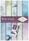 Papiery do scrapbookingu w zestawach - podróże retro * Scrapbooking papers in sets - retro travels