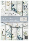 Zestaw kreatywny na papierze ryżowym - kraina lodowej porcelany*Creative set on rice paper - The world of ice porcelain