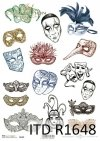 Máscaras de carnaval, Pierrot, máscara veneciana, carnaval*Karnevalsmasken, Pierrot, Venezianische Maske, Karneval*Карнавальные маски, Пьеро, Венецианская маска, Карнавальные