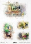 Acuarelas, rincones románticos, vistas rurales, una casa en flores.*Акварели, романтические уголки, деревенские перспективы, домик в цветах*Aquarelle, romantische Ecken, ländliche Ausblicke, ein Haus in Blumen
