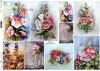 Papier Decoupagepapier zeitgenössische Malerei Blumen, Malven*Papel Decoupage flores pintura contemporánea, malvas*Бумага Декупаж современная живопись цветы, мальвы