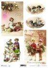 children, Christmas, Christmas decorations, Christmas, winter, retro, Christmas tree, gifts