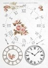 decoupage-papier-ryżowy-zegar-cyferblat-tarcza-zegarowa-R0144