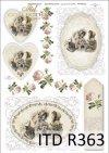 vintage, retro, kobieta, sukienka, kwiaty, róża, róże, dekoracje kwiatowe, ornamenty, medalion, deseczka, romantyzm, R363