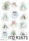 Shabby Chic, acuarelas, primavera, Pascua, animales de Pascua, colores pastel*Shabby Chic, Aquarelle, Frühling, Ostern, Ostertiere, Pastellfarben