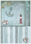 Conjunto creativo sobre papel de arroz Sea Stories*Kreativset auf Reispapier Sea Stories*Креативный набор на рисовой бумаге Sea Stories