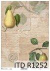 papier decoupage owoce, gruszki*Paper decoupage fruit, pear