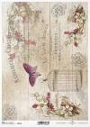 Vintage de papel decoupage, tableros, mariposas*Vintage Decoupage Papier, Platten, Schmetterlinge