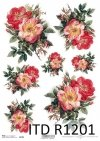 Papier ryżowy kwiaty, dzikie róże*Rice paper flowers, wild roses