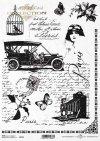 Papel de arroz vintage, carro viejo, cámara, jaula, carta vieja*Weinlesereispapier, altes Auto, Kamera, Birdcage, alter Buchstabe*Винтажная рисовая бумага, старый автомобиль, камера, птица, старое письмо