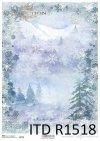Papier decoupage świąteczny, gwiazdeczki, śnieżynki*Holiday decoupage paper, starlets, snowflakes