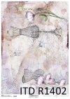 papier decoupage Vintage, manekin, gorset*Vintage decoupage paper, mannequin, corset