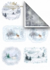 Papeles para scrapbooking en sets - invierno*Бумаги для скрапбукинга в наборах - зима