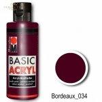 Farba akrylowa Basic Acryl 80 ml Bordeaux 034
