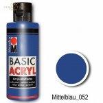 Farba akrylowa Basic Acryl 80 ml Mittelblau 052