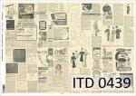 Papier decoupage ITD D0439