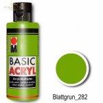Farba akrylowa Basic Acryl 80 ml Blattgrun 282