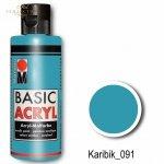Farba akrylowa Basic Acryl 80 ml Karibik 091