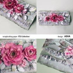 Kartka okolicznościowa Kwiatowe Marzenie - praca Asha