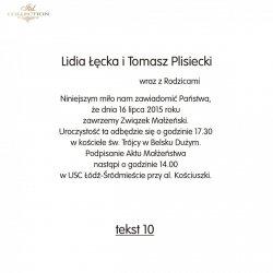 Teksty na ślub - TS10