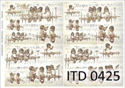 Papier decoupage ITD D0425