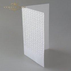 Baza do kartki BDK-023 - 185x107 mm * Biel naturalna, tłoczone kwiatki