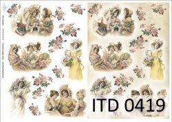 Papier decoupage ITD D0419