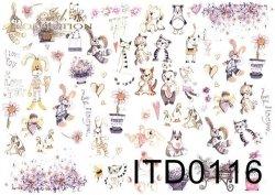 Papier decoupage ITD D0116M