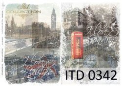 Papier decoupage ITD D0342