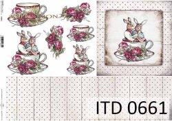 Papier decoupage ITD D0661
