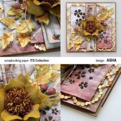 Kartka ozdobna Przyszła Jesień - praca Asha