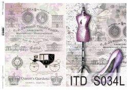 Papier decoupage SOFT ITD S0034L