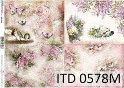 Papier decoupage ITD D0578M