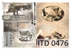 Papier decoupage ITD D0476