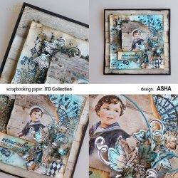 Kartka okolicznościowa Marynarz - praca Asha