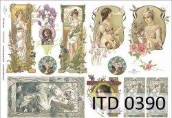 Papier decoupage ITD D0390