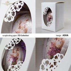 Ozdobne pudełko na wielkanocne jajo - Całe w Bieli - praca Asha