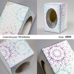 Ozdobne pudełko na wielkanocne jajo - Koronkowe Wariacje - praca Asha
