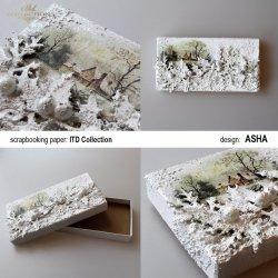Pudełko ozdobne z widokiem
