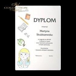 Dyplomy szkolne * dziewczynka