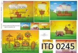 Papier decoupage ITD D0245