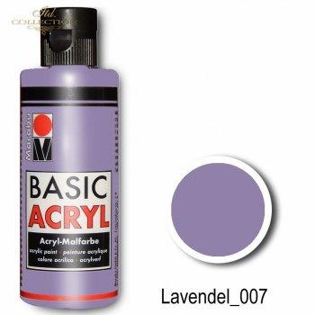 Farba akrylowa Basic Acryl 80 ml Lavendel 007