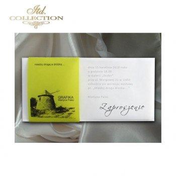 Zaproszenie biznesowe ZB1005 z kopertą