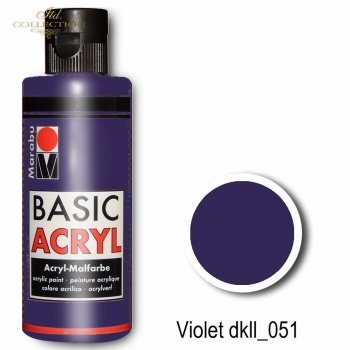 Farba akrylowa Basic Acryl 80 ml Violet 051