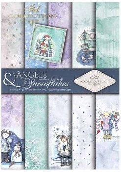 Скрапбукинг бумаги SCRAP-023 ''Ангелы и снежинки
